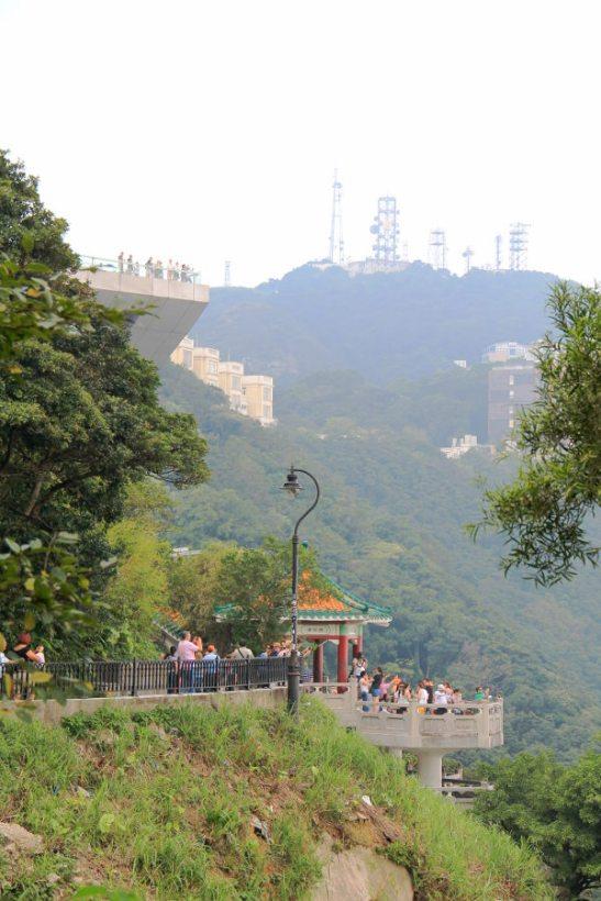 Kiinalainen mökki the Peakilla.