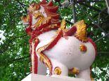 Ihan mielenkiintoinen yksityiskohta patsaassa Chiang Maissa.