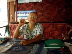 Majapaikkamme Mama Krabin Tonsailla Thaimaassa.