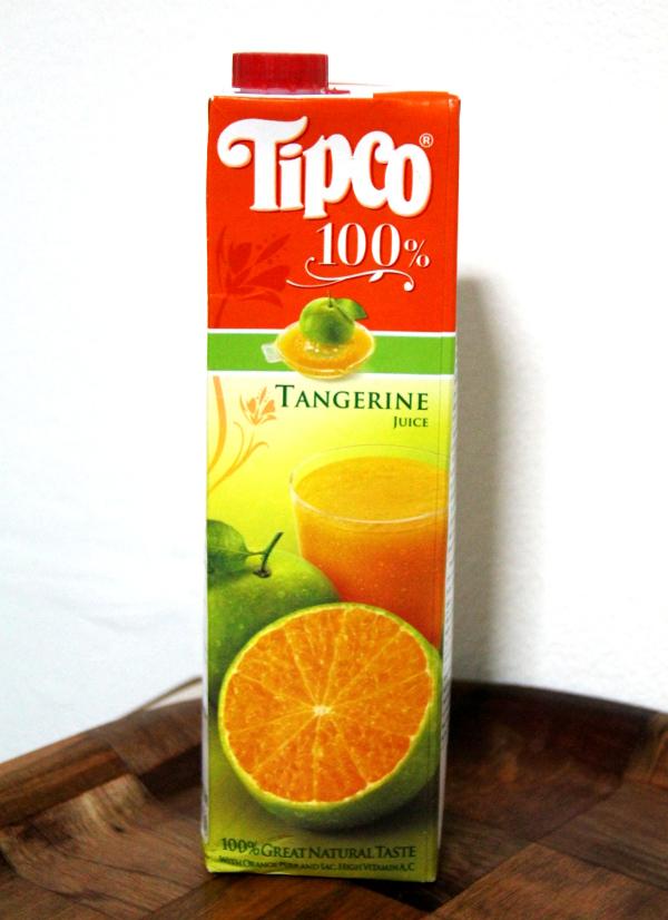 Kaupoista ei niin vain löydy sitä samaa appelsiinimehua kuin Suomessa aina on, vaan sen sijaan tangeriinimehua, mandariinimehua, klementiinimehua jne. Tämä tangeriinimehu on ehkä suosikkini.
