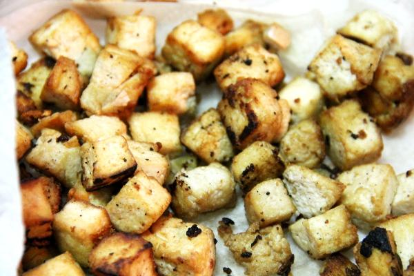 Paistettuja tofuja on tullut tehtyä paljon.