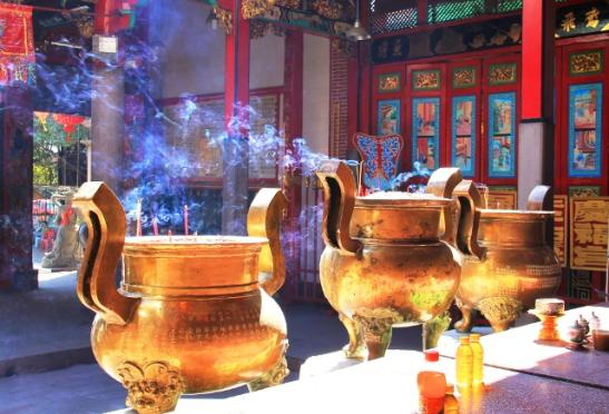 Kävin sentään yhdessä temppelissä, Kheng Hock Keongin kiinalaisessa buddhalaisessa temppelissä.