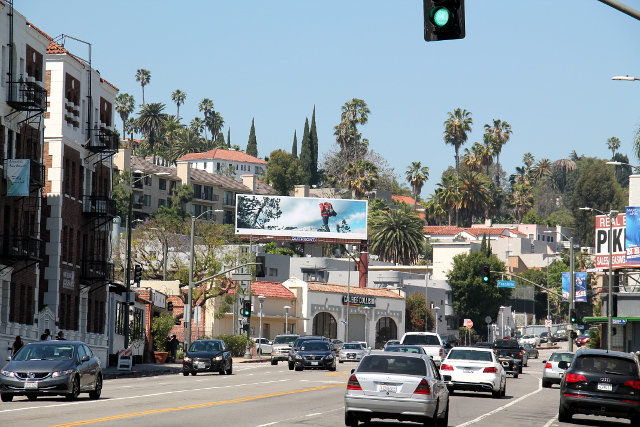 Pohjoisemman Hollywoodin katuja.