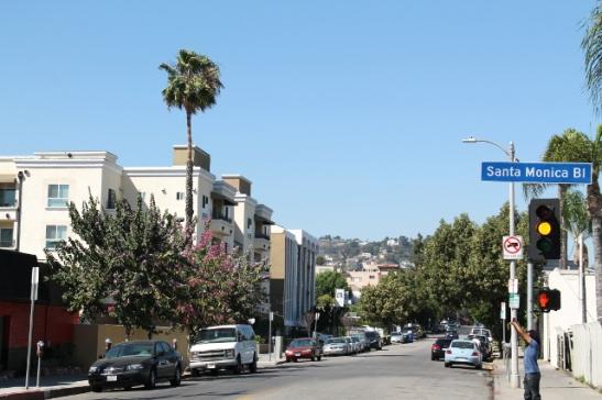 Tyypillistä näkymää Hollywoodin kaduilta.