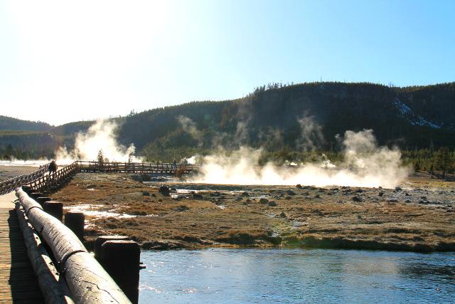 Vulkaaninen puisto Biscuit Basin.