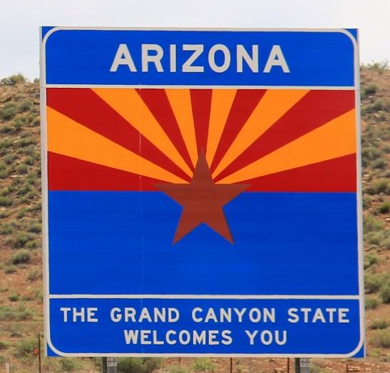 Arizonan puolelle Utahista.