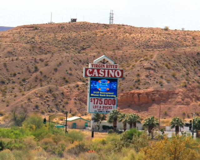 Heti Nevadan puolella oli kasinoita.