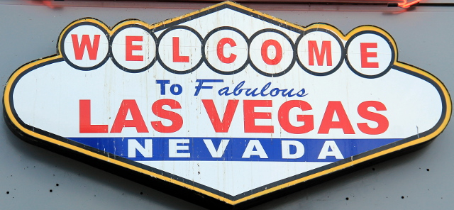 Klassinen Las Vegas -kyltti.