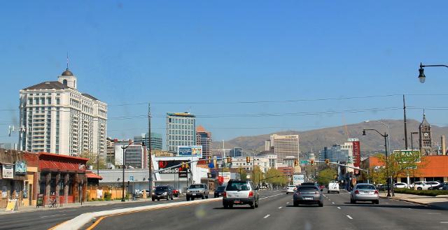 Salt Lake Cityn keskustaa.