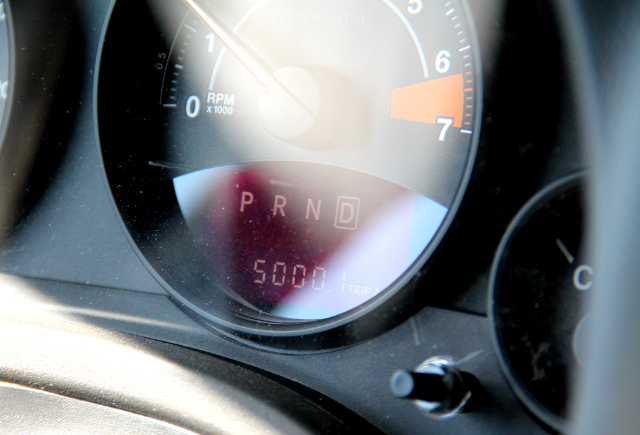 Matkan loppumetreillä tuli 5000 mailia täyteen eli ajoimme yli 8000 km. .