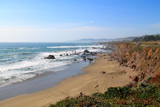 Tyynen valtameren rantaa Bodega Baylla.