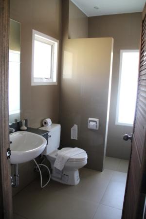Ihanan siisti kylpyhuone.