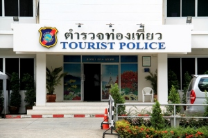 Joissain kohteissa on erikseen turistipoliisiasema. Tämä kuva on Chiang Maista.