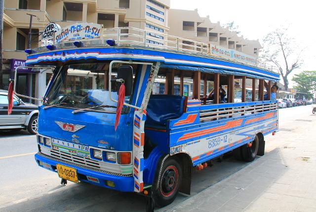 Phuketin paikallisbussi.