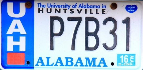 Alabaman tylsä rekkari (osavaltio 1).