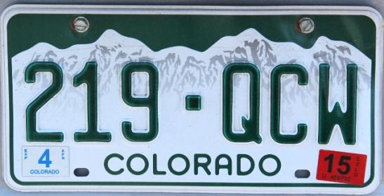 Coloradon rekkareissa näytti kaikissa olevan tämä vuorimaisema.