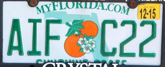 Floridan rekisterikilvessä on kivasti appelsiineja.