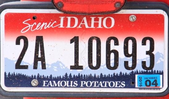 Idaho ja famous potatoes. Ihan loistava.