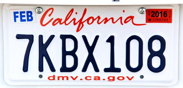 Kalifornian rekkarissa luotetaan kaunokirjoitukseen, vaikka osavaltiolla olisi rahkeita vaikka mihin.