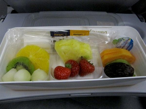 Lufthansan hedelmäaamiainen.