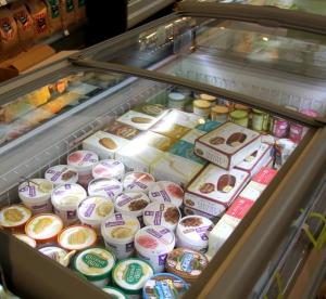 Maidottomia jäätelöitä.