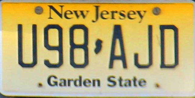 New Jersey Garden State.