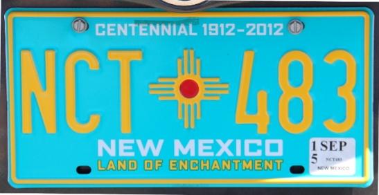 """Uuden Meksikon turkoosi """"Land of Enchantment""""."""