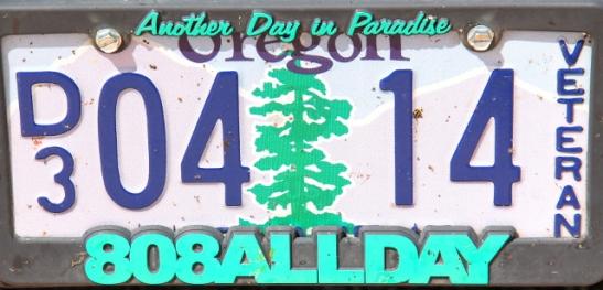 Oregonin rekkarissa on oikeutetusti punapuu. Se voisi ilmoittaa olevansa The Redwood State.