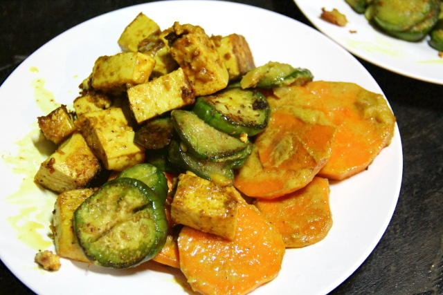 paistetut curryvihannekset
