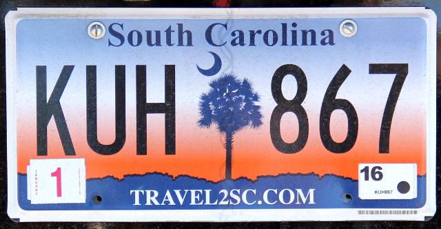 South Carolinan rekkarissa on puu ja kuu jostain syystä.