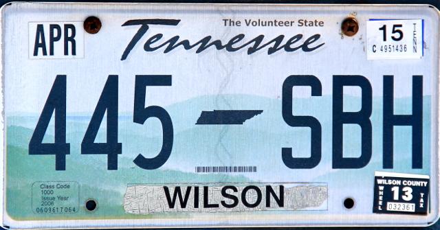 Tennessee ilmoittaa pienellä olevansa The Volunteer State.