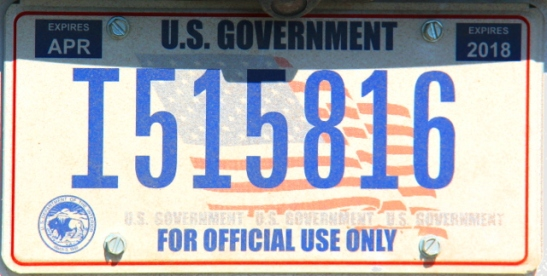 Sitten vielä valtiolla työskentevän en-kuulu-mihinkään-osavaltioon -rekkari.