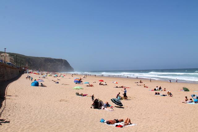 Hiekkaranta on vilkkain Praia Grandella Hotel Arribasin vieressä.