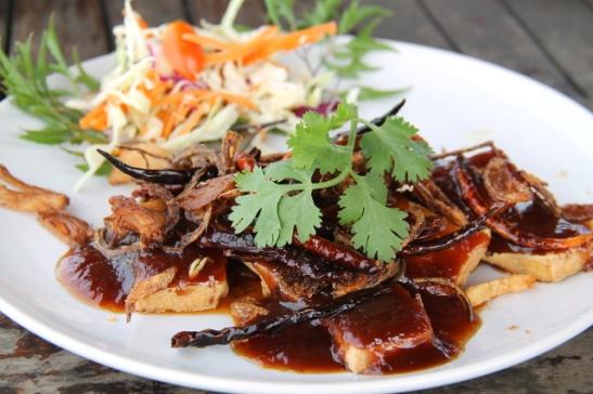 Old Townin Fresh-ravintolan tamarinditofu.
