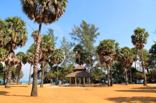Kansallispuistossa on eräänlainen puisto rannan äärellä.
