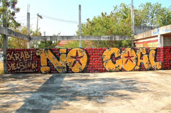 Kantaaottava graffiti Koh Lantalla.