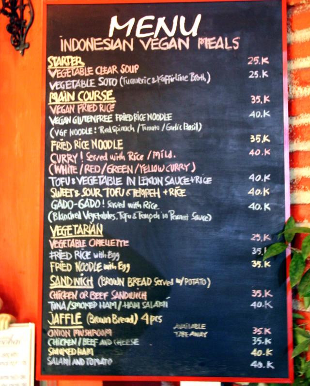 Paikan menu.