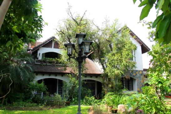 Tällä talolla oli ihana puutarha.