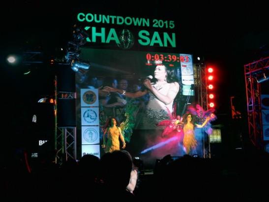 Uuden vuoden show Khao Sanilla.