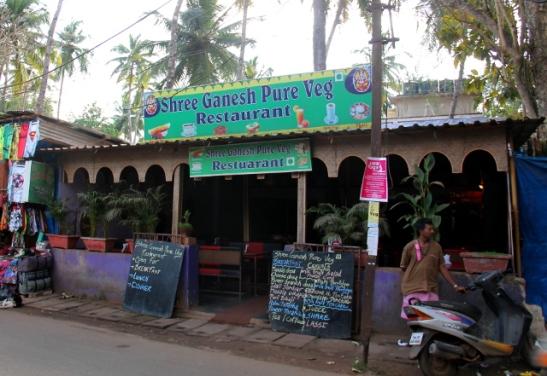 Shree Ganesh Palolemin kylänraitilla.