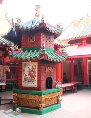 Uuni kiinalaistemppelissä Kuala Lumpurin laajassa Chinatownissa.